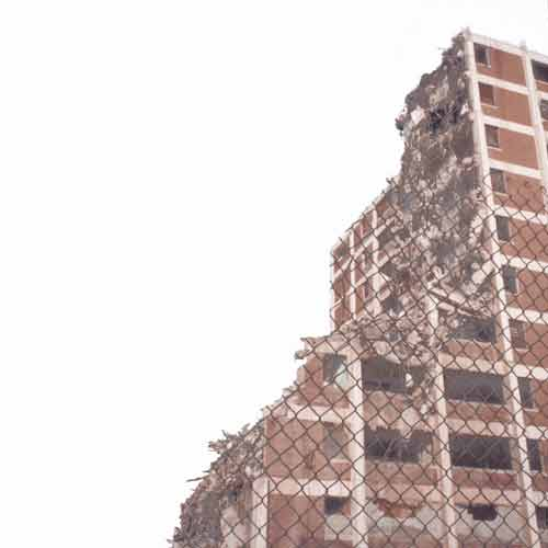 public housing high-rise being